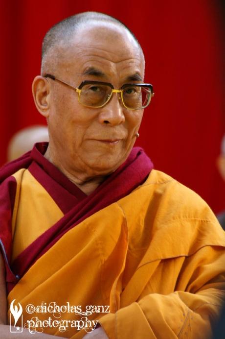 S.H. der 14. Dalai Lama während seines Besuches in Frankfurt 2009.