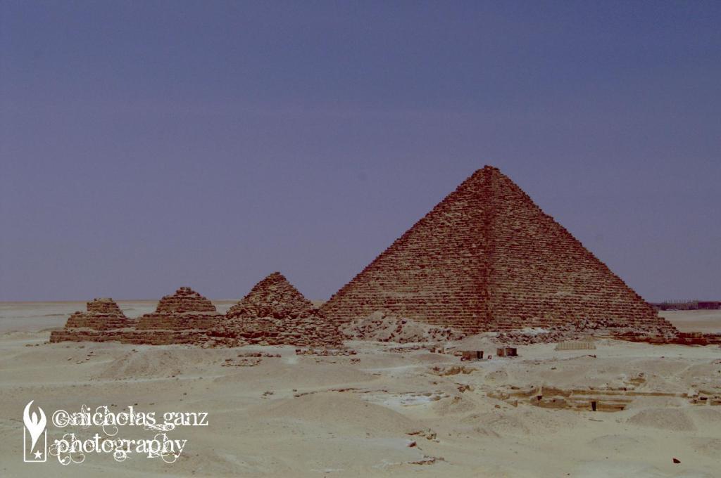 Die Pyramiden von Gizeh in Ägypten.